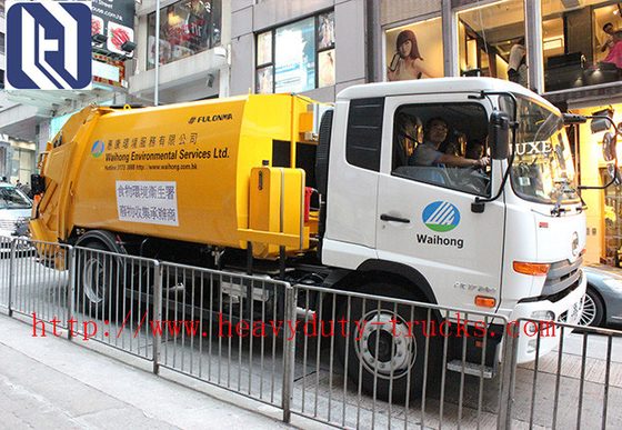 Chiny 4 x 2 Driving 10 CBM Garbage Compactor Truck of Sinotruck dystrybutor
